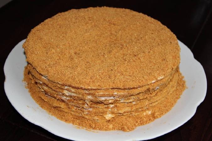 Рецепт медовика классический со сметанным кремом пошаговый рецепт с фото